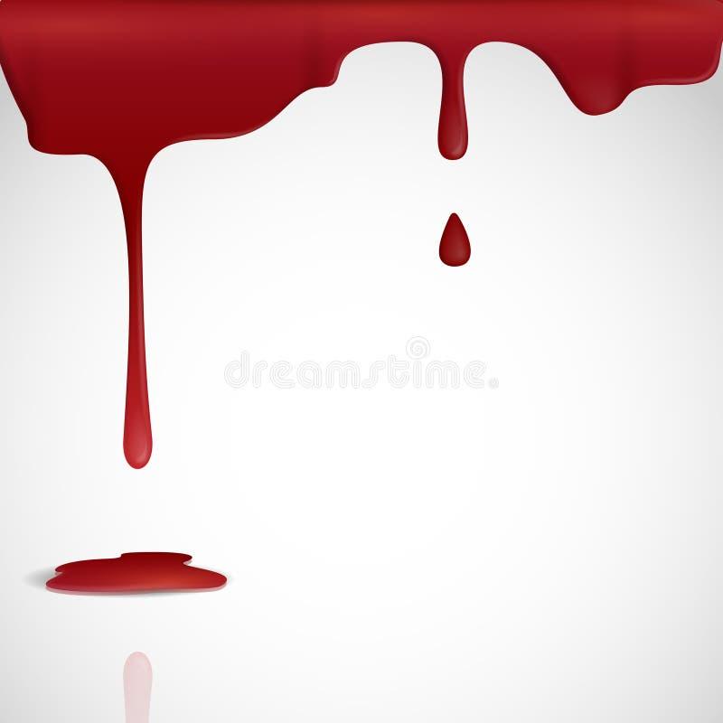 Genomblött rött blod. royaltyfri illustrationer