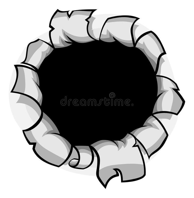 Genombrottpappershål royaltyfri illustrationer