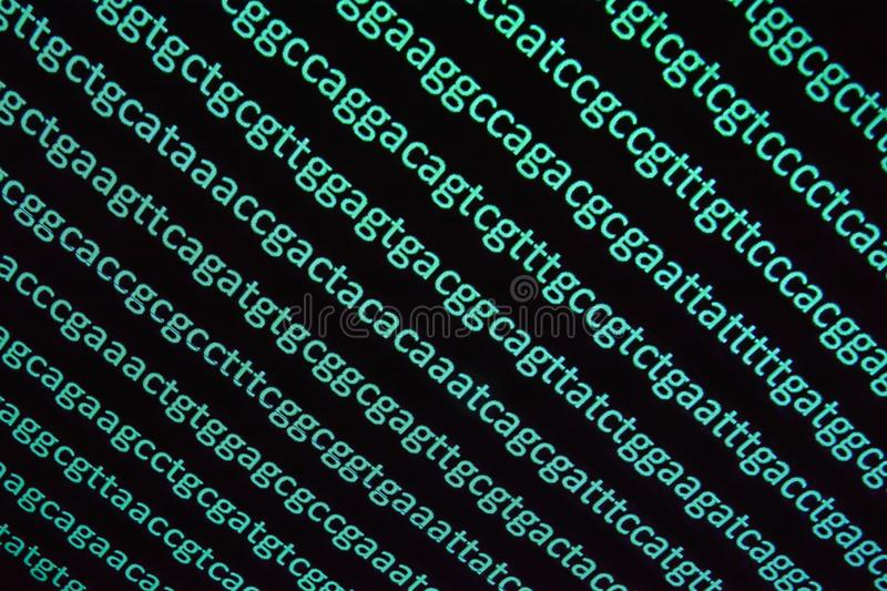 Genomic sequencing. royalty free stock photo