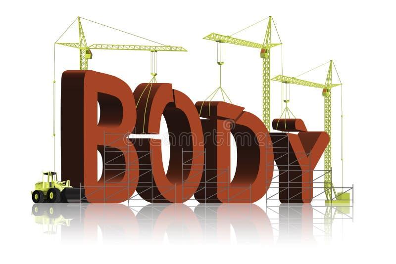 genomkörare för muskel för idrottshall för kondition för huvuddelbyggnadsövning stock illustrationer