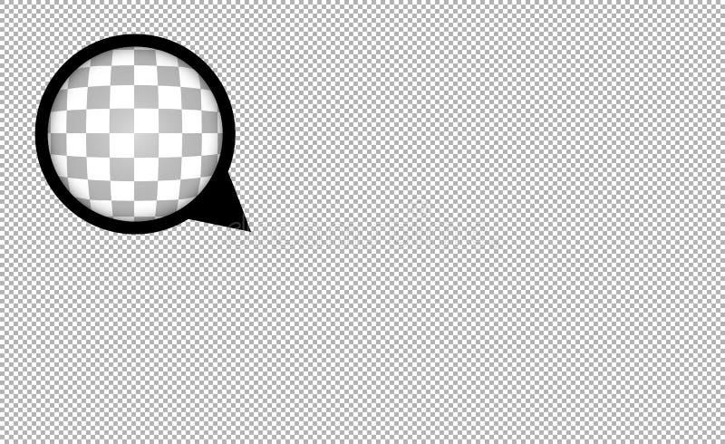Genomskinlig bakgrund för abstrakt begrepp för rasterefterföljdvektor med zoomobjektivet vektor illustrationer