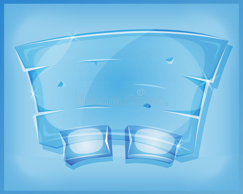 Genomskinlig Glass överenskommelsepanel för den Ui leken royaltyfri illustrationer