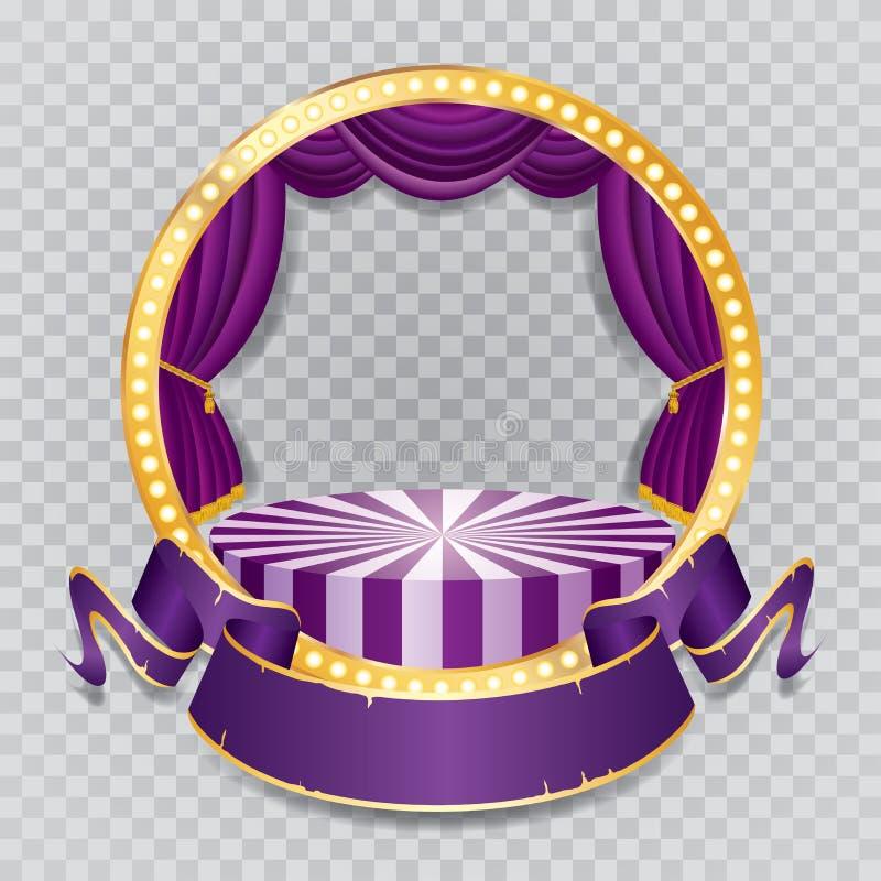 Genomskinlig lilacirkeletapp royaltyfri illustrationer