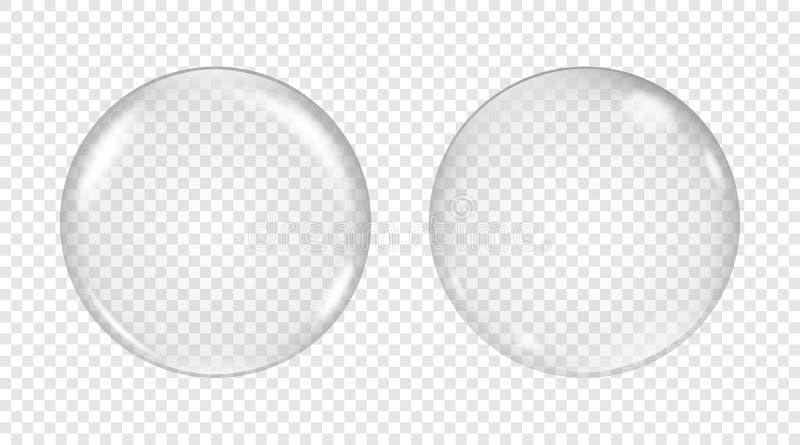 Genomskinlig såpbubbla för vektor royaltyfri illustrationer