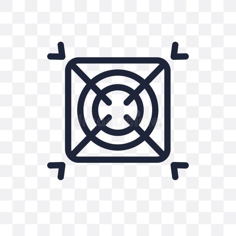 Genomskinlig symbol för AI-raster Design för AI-rastersymbol från konstgjort vektor illustrationer