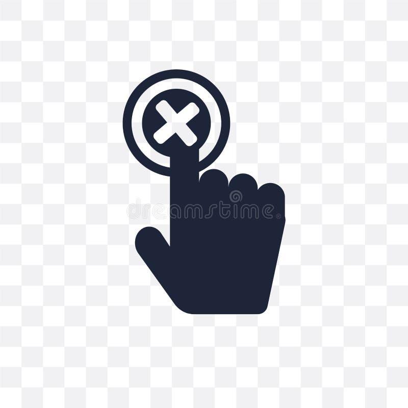 Genomskinlig symbol för annullering Annulleringssymboldesign från rengöringsduknavigatio stock illustrationer