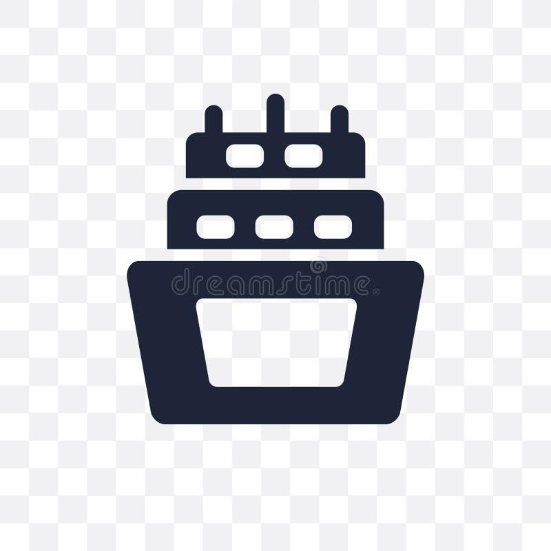 genomskinlig symbol för barlast barlastsymboldesign från nautiskt Co stock illustrationer