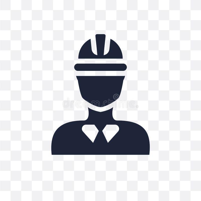 Genomskinlig symbol för byggnadsarbetare Byggnadsarbetaresymbol vektor illustrationer