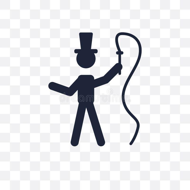 genomskinlig symbol för cirkusdirektör cirkusdirektörsymboldesign från Circu vektor illustrationer