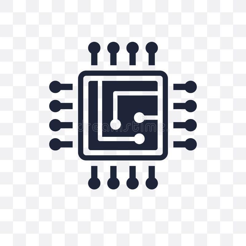Genomskinlig symbol för CPU CPU-symboldesign från konstgjorda Intelleg royaltyfri illustrationer