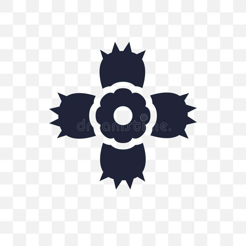 Genomskinlig symbol för Dianthus Dianthussymboldesign från naturen Co vektor illustrationer