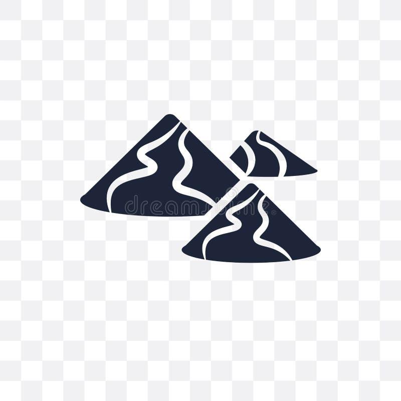 Genomskinlig symbol för dyn Dynsymboldesign från ökencollecti royaltyfri illustrationer