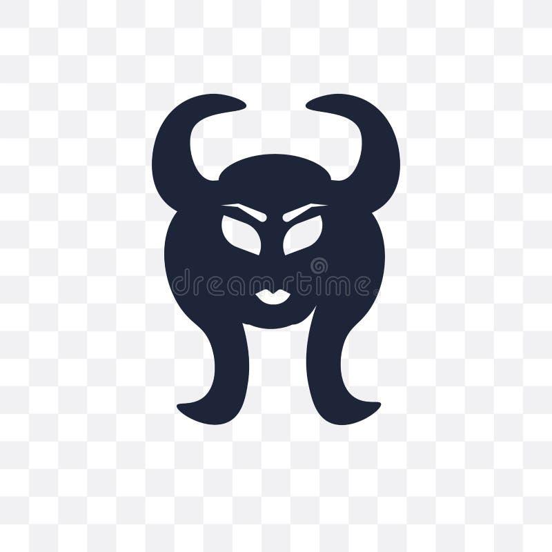 Genomskinlig symbol för faun Faunsymboldesign från sagacollec royaltyfri illustrationer