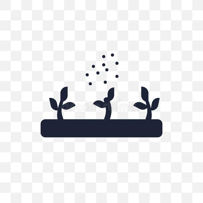 Genomskinlig symbol för gödningsmedel Gödningsmedelsymboldesign från Agric stock illustrationer