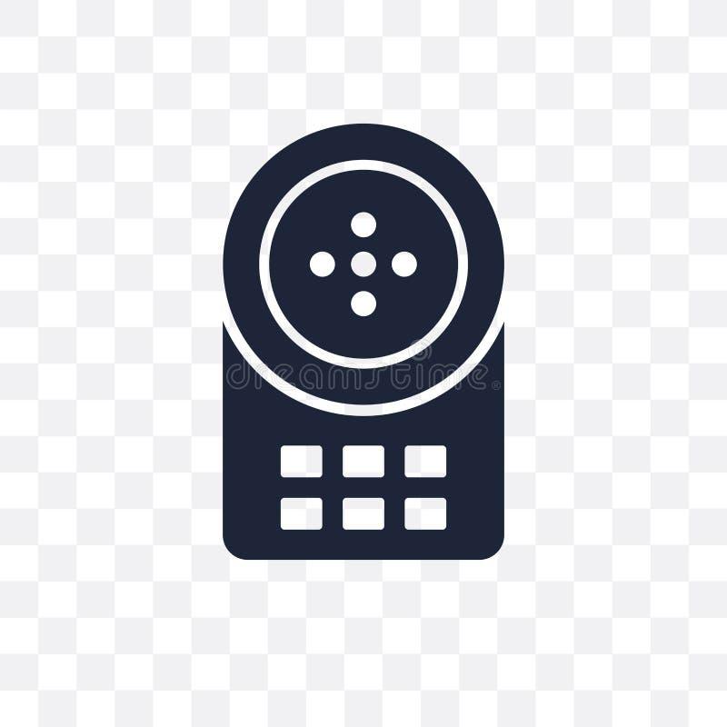 Genomskinlig symbol för högtalaranläggning Högtalaranläggningsymboldesign från Smarthome royaltyfri illustrationer