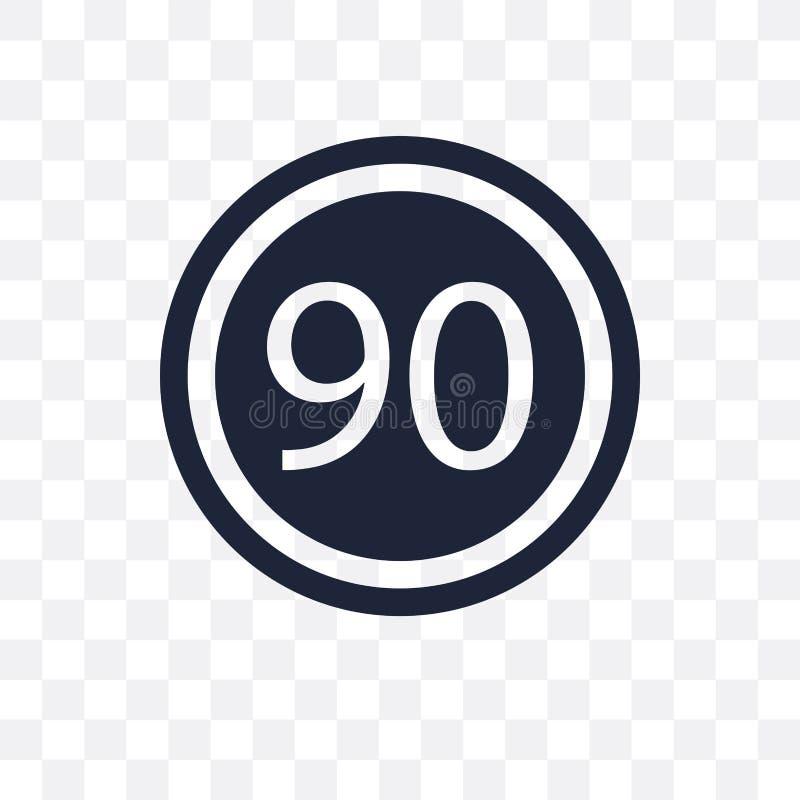 Genomskinlig symbol för hastighetsbegränsningtecken Desig för hastighetsbegränsningteckensymbol vektor illustrationer
