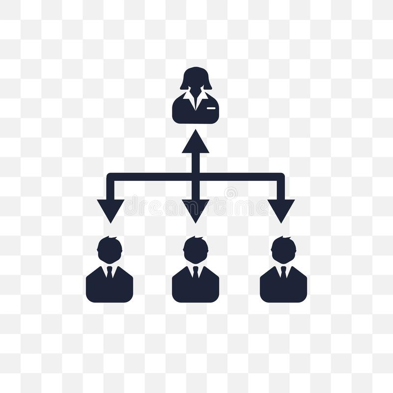 Genomskinlig symbol för hierarki Hierarkisymboldesign från affär royaltyfri illustrationer