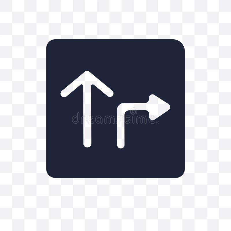 Genomskinlig symbol för huvudvägtecken Design för huvudvägteckensymbol från T royaltyfri illustrationer