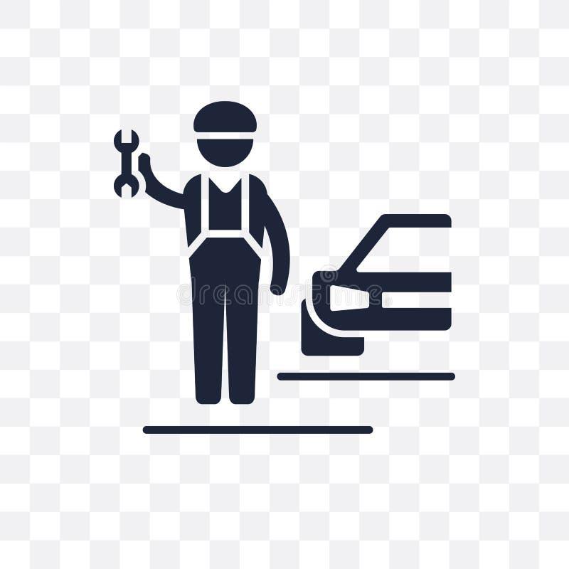 Genomskinlig symbol för mekaniker Mekanikersymboldesign från Professio royaltyfri illustrationer