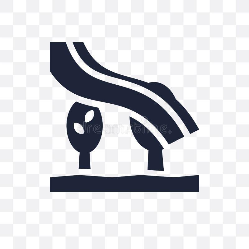 Genomskinlig symbol för morgonrodnad Morgonrodnadsymboldesign från vädercolle royaltyfri illustrationer