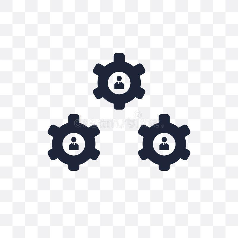 Genomskinlig symbol för organisation Organisationssymboldesign från B royaltyfri illustrationer