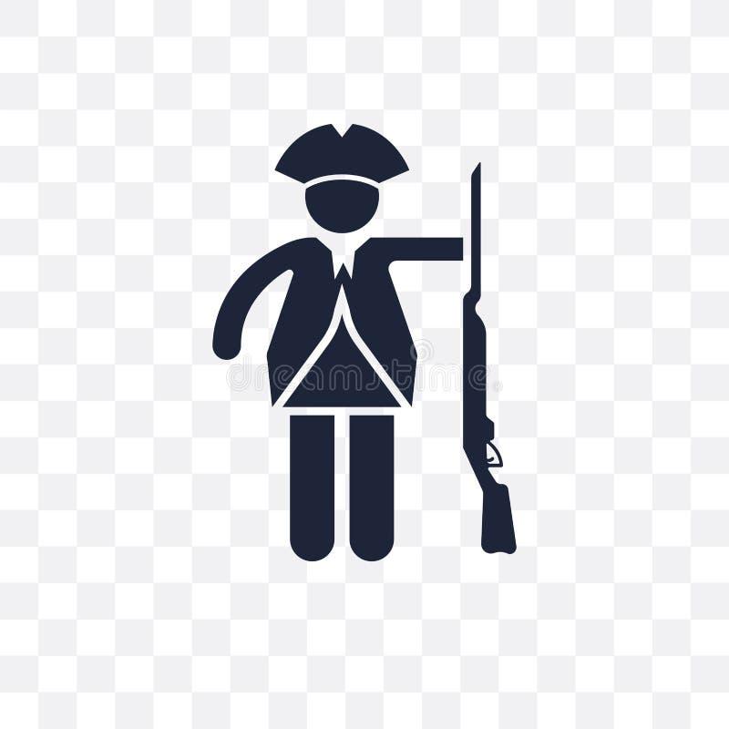 Genomskinlig symbol för patriot Patriotsymboldesign från armécollec stock illustrationer