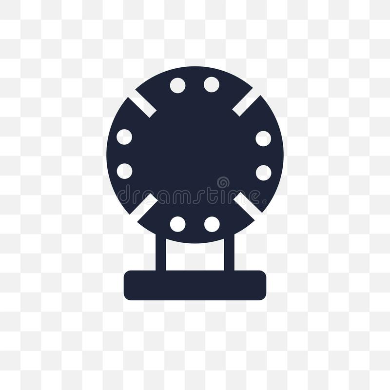 Genomskinlig symbol för porslin Porslinsymboldesign från museum stock illustrationer