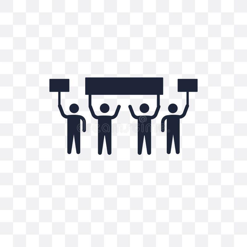 Genomskinlig symbol för protest Protestsymboldesign från politiskt c royaltyfri illustrationer