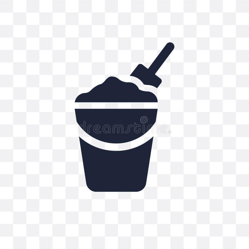 Genomskinlig symbol för för sandhink och skyffel Sandhink och skyffel royaltyfri illustrationer