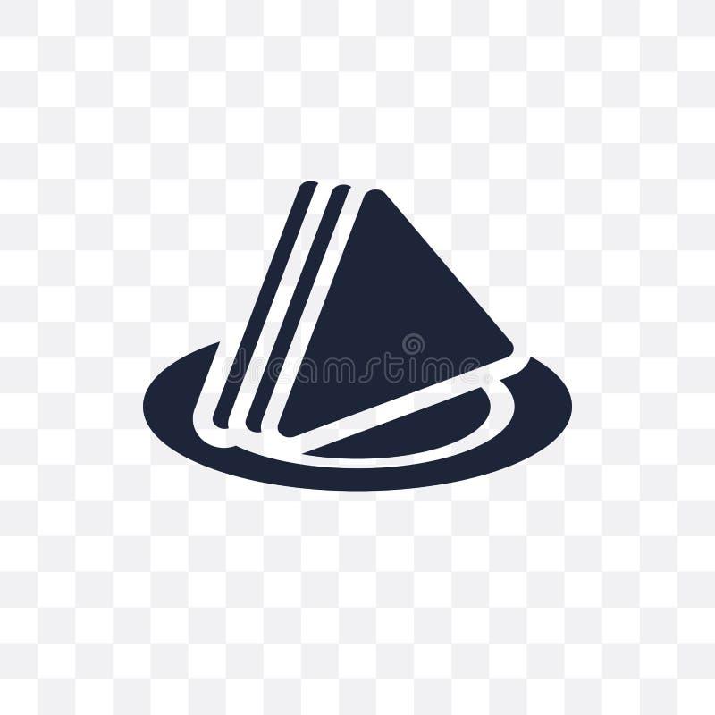 Genomskinlig symbol för servett Servettsymboldesign från Cleanin royaltyfri illustrationer