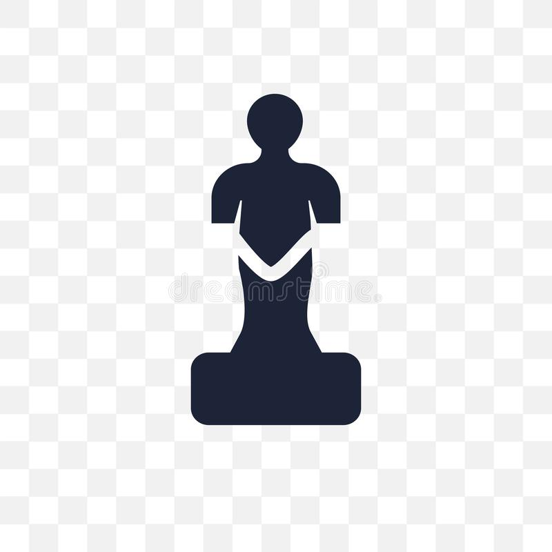 Genomskinlig symbol för staty Statysymboldesign från museumcollec vektor illustrationer