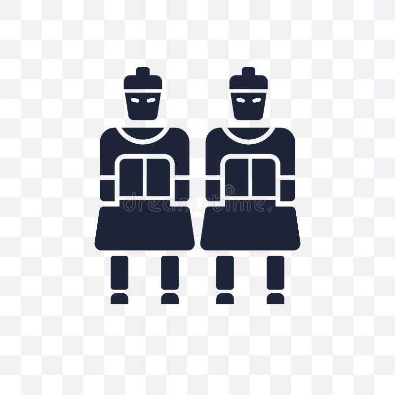 Genomskinlig symbol för terrakotta Terrakottasymboldesign från armén royaltyfri illustrationer