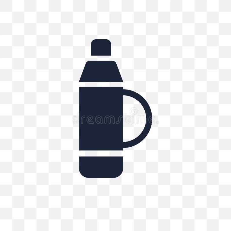 Genomskinlig symbol för Themos flaska Design för Themos flaskasymbol från W royaltyfri illustrationer