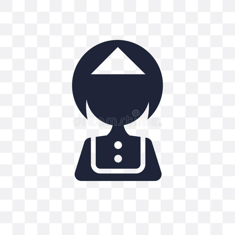 Genomskinlig symbol för tjänare Tjänaresymboldesign från hotellcolle stock illustrationer