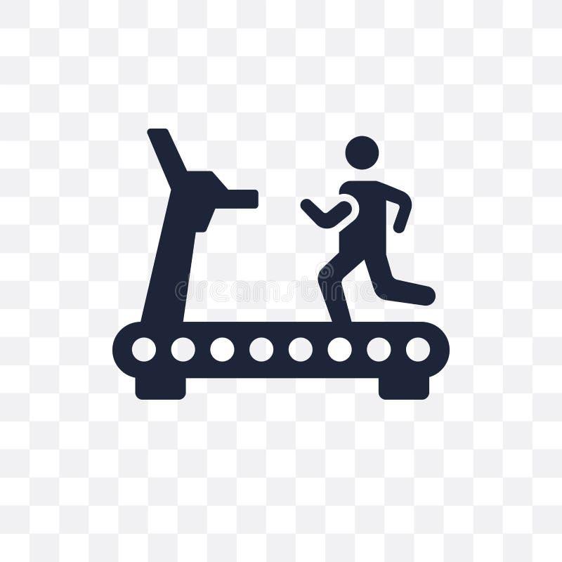 Genomskinlig symbol för trampkvarn Trampkvarnsymboldesign från idrottshall och vektor illustrationer