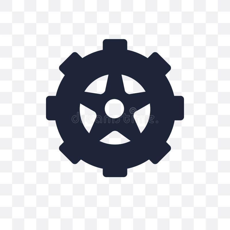 Genomskinlig symbol för vintergummihjul Design för vintergummihjulsymbol från seger stock illustrationer