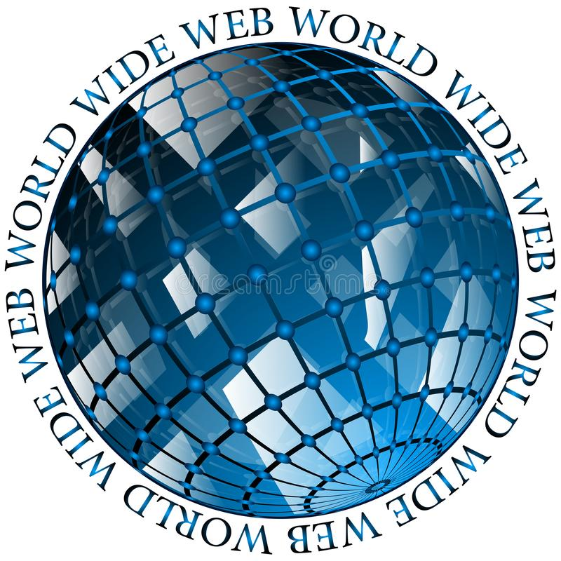 Genomskinlig symbol för WWW world wide web royaltyfri illustrationer