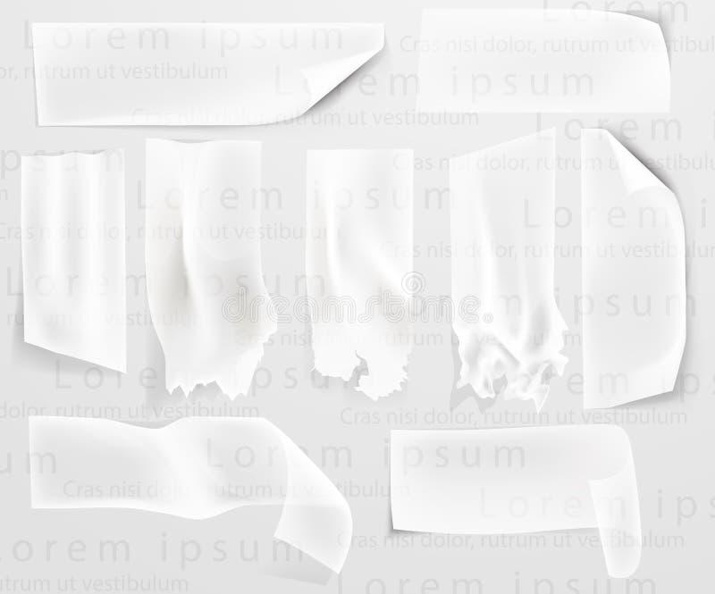 Genomskinlig tejp, tejp stock illustrationer