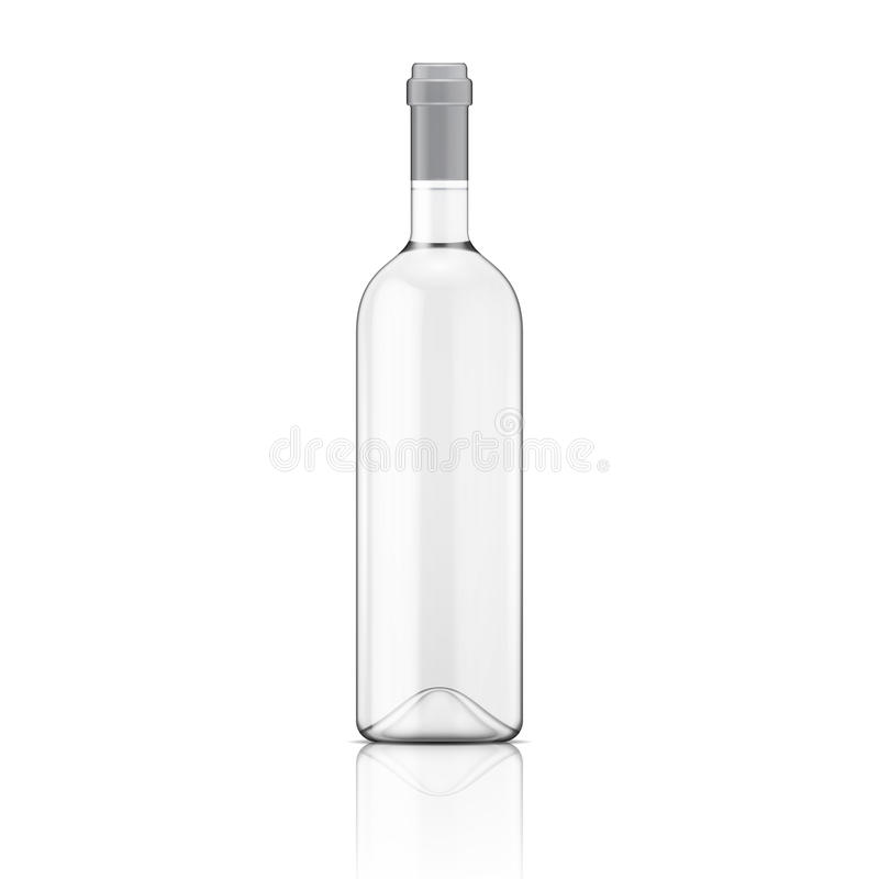 Genomskinlig vinflaska. royaltyfri illustrationer