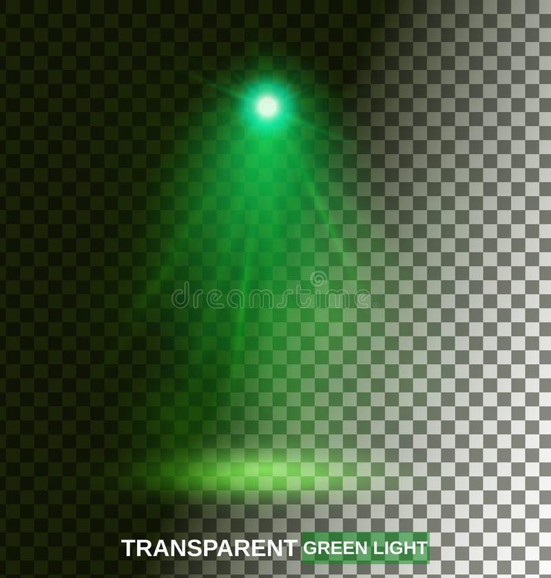 Genomskinliga klarteckeneffekter på en mörk bakgrund Str?lkastare, signalljus, explosion och stj?rnor stock illustrationer