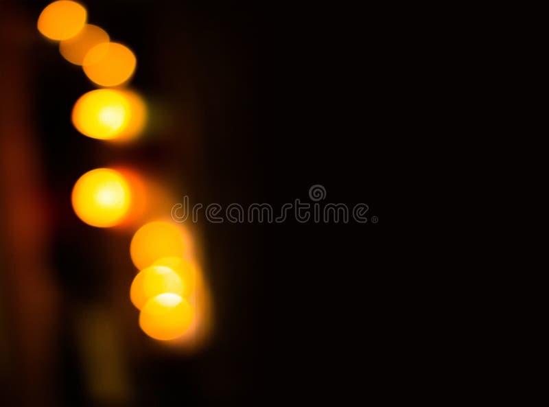Genomskinliga orange ljusa effekter royaltyfri bild