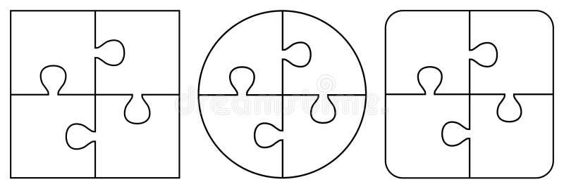 Genomskinliga pusselstycken vektor illustrationer