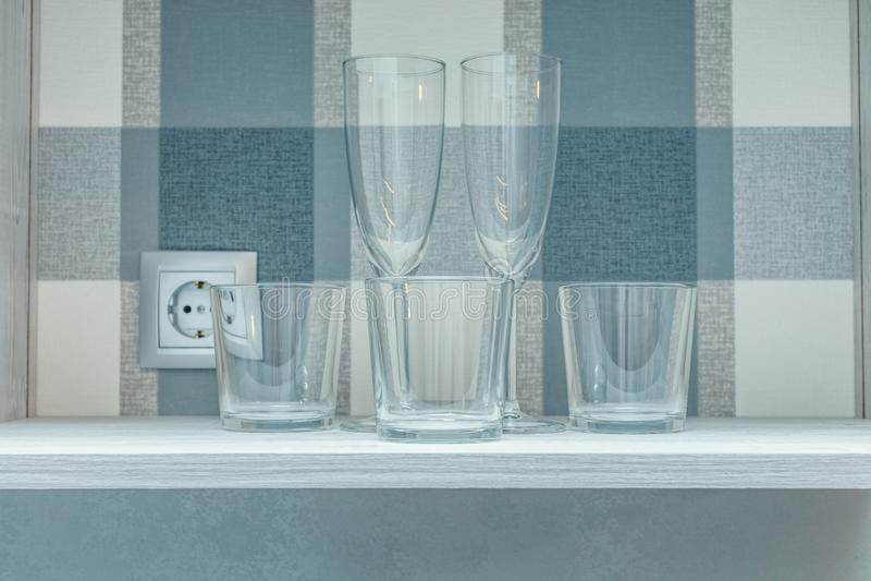 Genomskinliga rena exponeringsglas arkivfoton