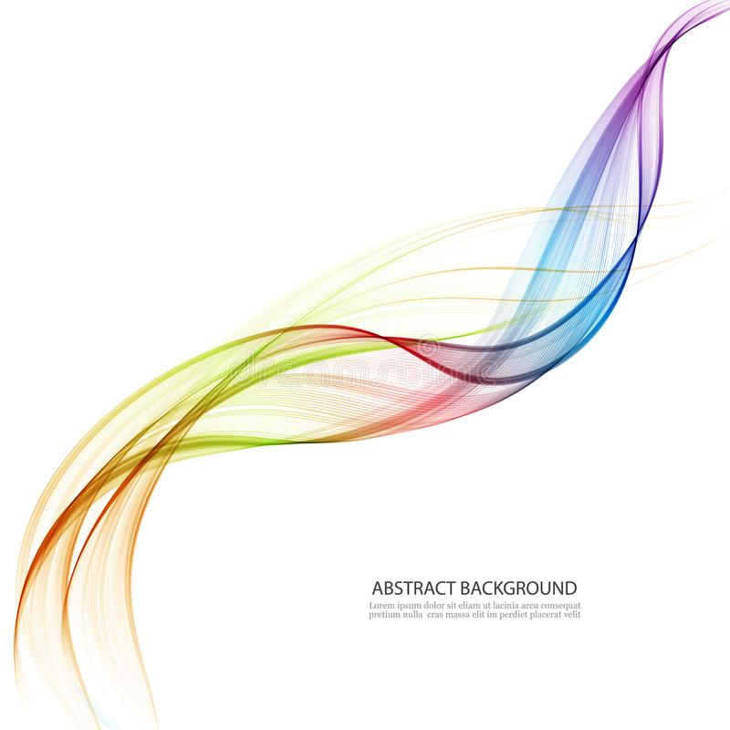 Genomskinliga vågor för färg Område av abstrakt begrepp vinkar bakgrund vektor illustrationer