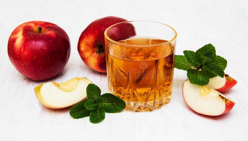 genomskinligt för glass fruktsaft för bild för mat för äpplen för äpple 3d begreppsmässigt fallande naturligt arkivfoto