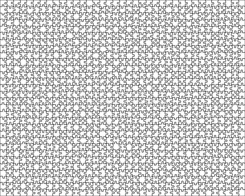 genomskinligt härligt blankt pussel royaltyfri illustrationer