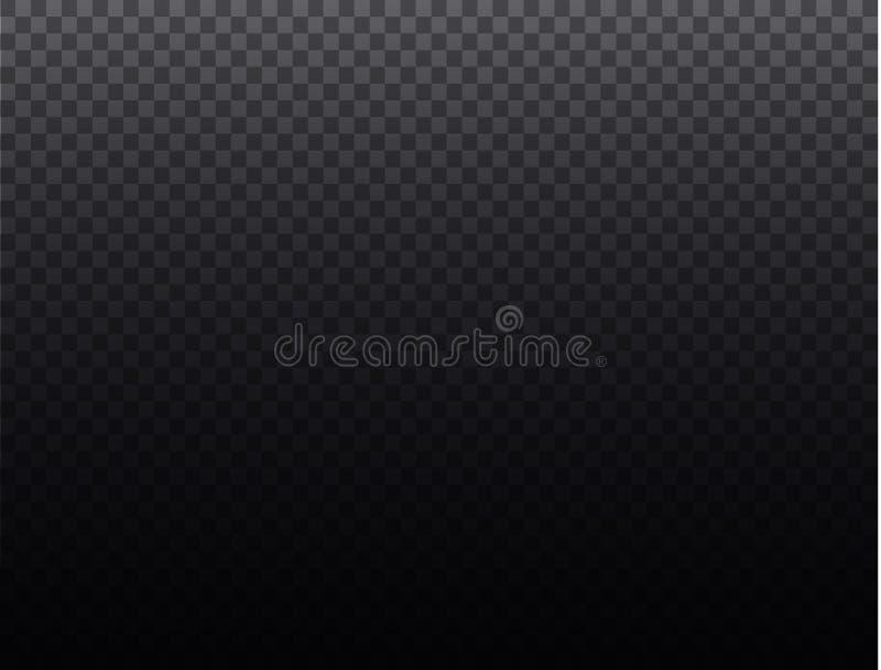 Genomskinligt raster för genomskinlig bakgrund Akromatisk grå färg- och vitschackbrädetextur Tvådimensionell normal vektor illustrationer