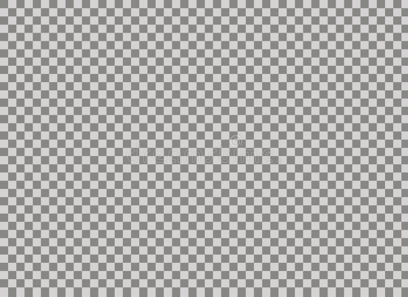 Genomskinligt raster för genomskinlig bakgrund Akromatisk grå färg- och vitschackbrädetextur Tvådimensionell normal royaltyfri illustrationer