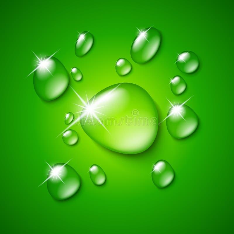 genomskinligt vatten för droppe vektor illustrationer