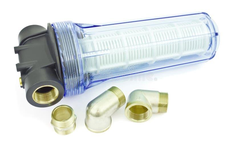 genomskinligt vatten för filterhus royaltyfria foton